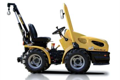 Tracteur pour la pépinière et met en œuvre