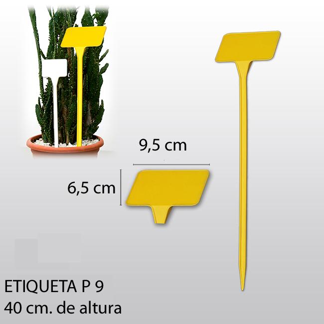 Etiqueta para plantar P9